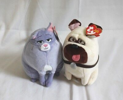 TY Secret Life of Pets Plushes Cat Chloe and Dog Mel A30RD12