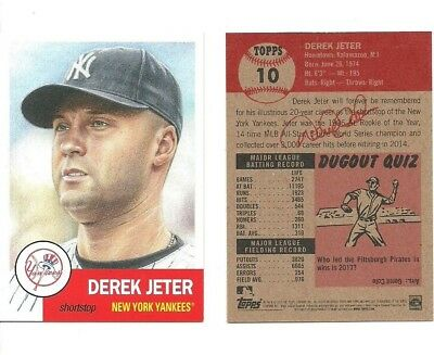 Derek Jeter 2018 Topps Living Set Card  10 Sold Out New York Yankees Future Hof