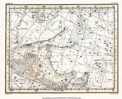 Astronomy Celestial Atlas Jamieson 1822 Plate-12 Art Paper or Canvas Print