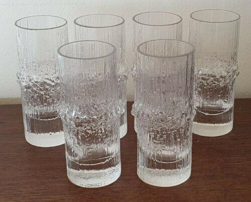 """Vintage Iittala Finland """"Niva"""" Shot Liqueur Glasses x 6"""