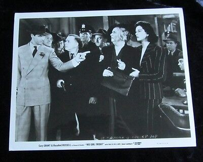 HIS GIRL FRIDAY original photo #3 CARY GRANT, ROSALIND RUSSELL (1992 reissue)