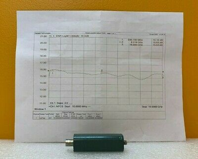 Microwave Semiconductor Corp Msc Mc65227 10 Mhz To 18 Ghz Noise Source. New