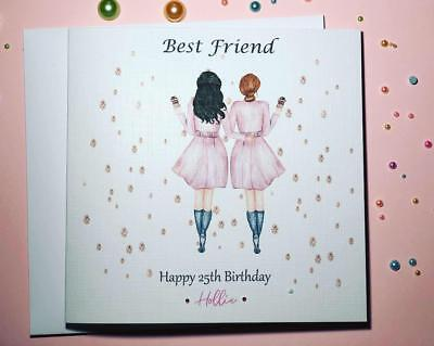 Birthday Card for Best Friend/ Sister/ cousin etc 18th 21st 25th 30th 35th 40th
