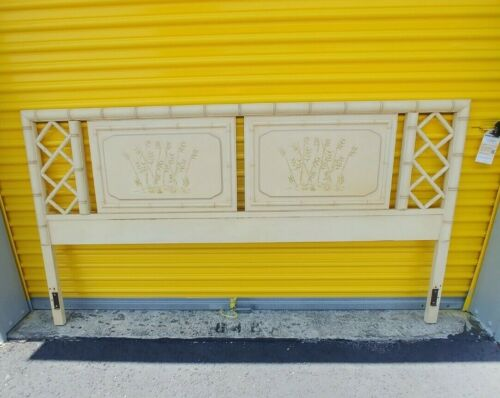 Dixie Aloha King Size Headboard Faux Bamboo Hollywood Regency  Chippendale
