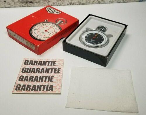 TAG HEUER TRACKSTAR 7 JEWELS Swiss Pocket Stop Watch w/ Sub Second Dial complete