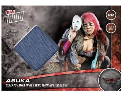 Topps Now 2017 Asuka Match Used Mat Relic   25 Tlc Wwe