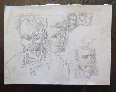 Zeichnung Studio (Zeichnung Vintage Studio für Porträts Mannschaftswohnung Vorbereitende Skizze)