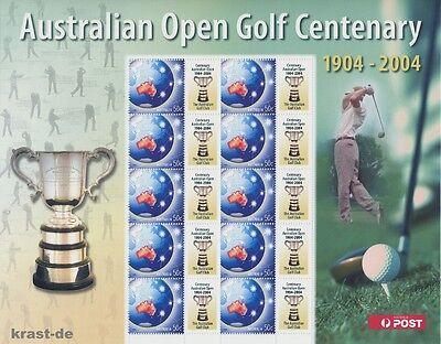 AUSTRALIEN - 2004 AUSTRALIA AUSTRALIAN OPEN GOLF CENTENARY 1904 - 2004 BOGEN **