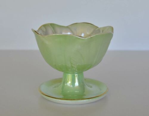 Vintage Maling Light Green Lustre Ware Dessert Bowl