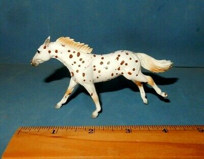 BREYER STABLEMATE RUNNING APPALOOSA THOROUGHBRED HORSE MINT G2 SM white red
