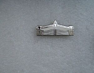 Top quality Enamel  Pin Badge White Paisley Gateway Liverpool