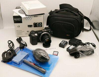 SONY alpha NEX-6 FULL HD Digital Camera + 35mm F1.7 PRIME LENS + TRIPOD & EXTRAS