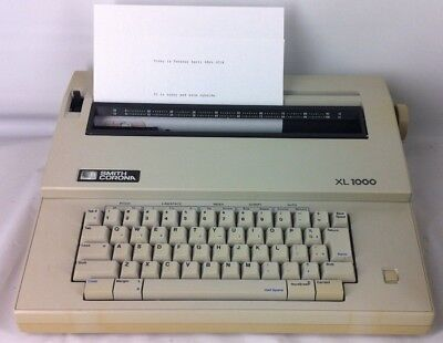 Smith Corona Xl 1000 Electric Typewriter. Tested And Works.