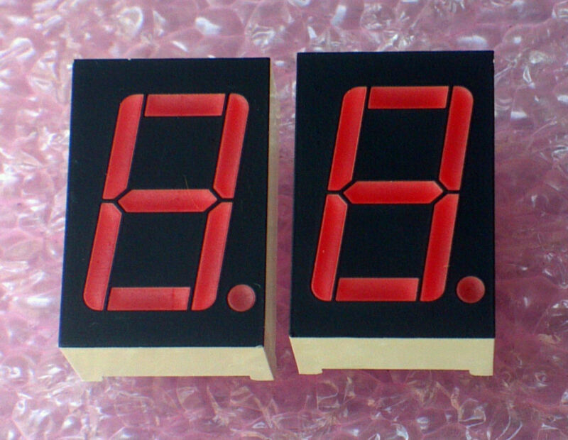 "7 Segment Display RED 0.56"" 14.2mm Common Anode (+) CA  - 4pcs [ LTS-6760 ]"