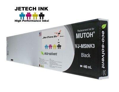 Mutoh Vj-msink3 Eco Solvent Compatible 440ml Ink Cartridges - Black