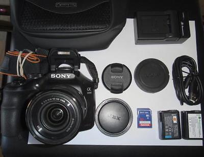 Sony Alpha a3000 20.1MP Digital Camera w/ E OSS 18-55mm Lens - BUNDLE