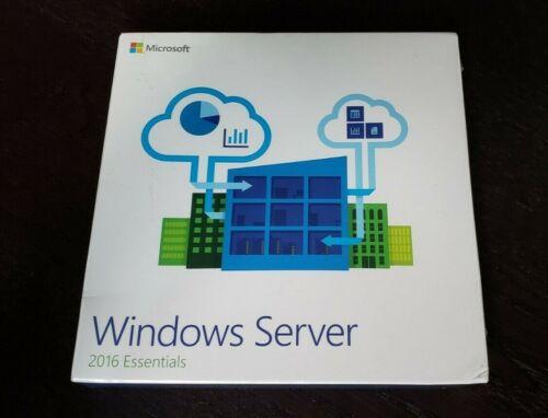 Microsoft Windows Server 2016 Essentials SKU G3S-00936 BRAND NEW Sealed Retail