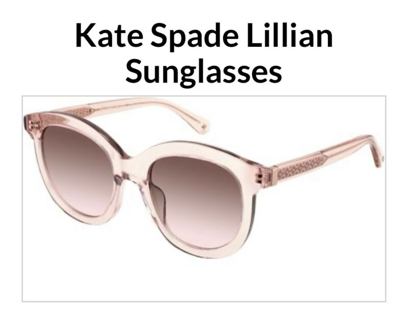 LENSES ONLY!! Kate Spade Lillian Brown Pink gradient Sunglasses LENSES ONLY