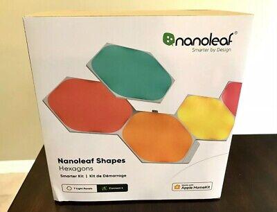 🔥 NEW!! 🔥 Nanoleaf Hexagon Color Changing Light Panels Smarter Kit 7 Panels 🔥