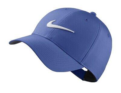 2 Nike Legacy Drifit Blue Adjustable Strapback Baseball Cap Hat Golf Comfortable