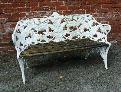 Fern and blackberry design cast iron garden bench