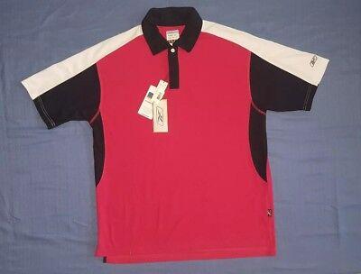 Rbk Golf (Reebok RBK Golf Hydromove Crimson Pieced Perf Knit Polo Shirt Mens Large NWT $55)