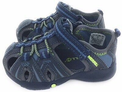 Merrell Boys Hydro Water Sandal Shoe Hook and Loop Blue Toddler Size 5 M US
