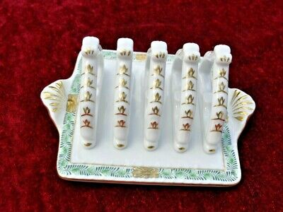 Antique - VINTAGE HEREND ROTHSCHILD PORCELAIN TOAST RACK - HUNGARY #449  MINT