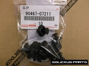 Lexus IS250 IS350 ISF (2006-2013) OEM Genuine Plastic ENGINE COVER CLIPS (x10)