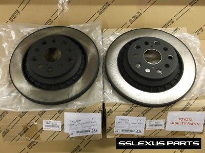 Lexus LS460 F-Sport (2013-2015) OEM Genuine REAR BRAKE ROTOR SET - ROTORS (x2)