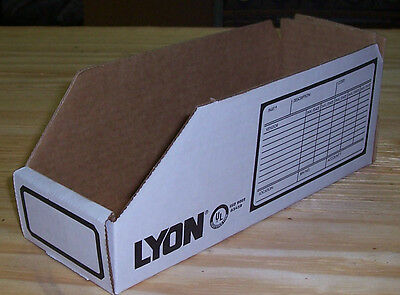 10 Pack Of 8356 Lyon Cardboard Parts Binsshelving Boxes6x12x4-12cabinet