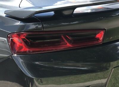 2016 2017 2018 CAMARO SMOKE TAIL LIGHT PRECUT TINT COVER SMOKED OVERLAYS