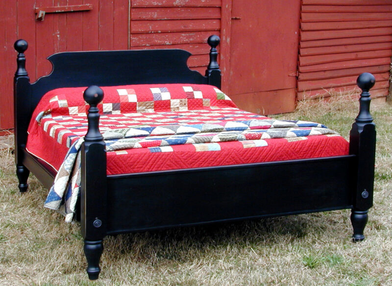 French Country Pine TAVERN BED, King Size, USA Hand Made Reproduction