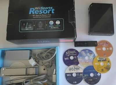 Wii console boxed and games bundle.