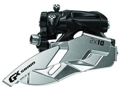 SRAM GX 2x10 Spd Low Clamp 34T Dual Pull Front Derailleur Fit X0 X9 X7 Group ()