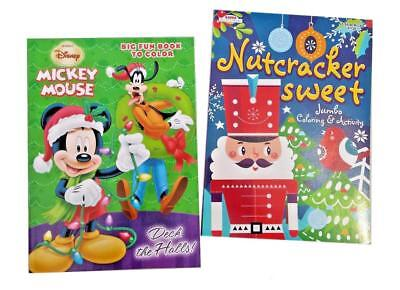 Mickey Mouse & The Nutcracker Christmas Coloring Book Holiday Activity Books Set ()