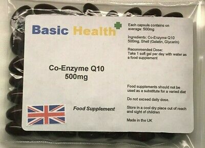Co-Enzyme Q10 500mg x 365 (1 Years Supply) Antioxidant Heart Energy Gum Disease