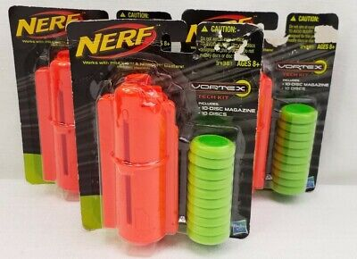 Nerf Vortex Tech Kits 10 Discs and Magazines Lot Of 3 NIP 34381