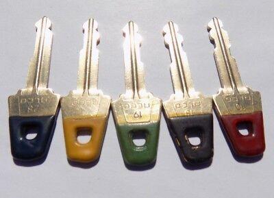 Gilbarco Veeder-root Pos Lot Of 5 Brass Keys G-site Cashier Manager Keys