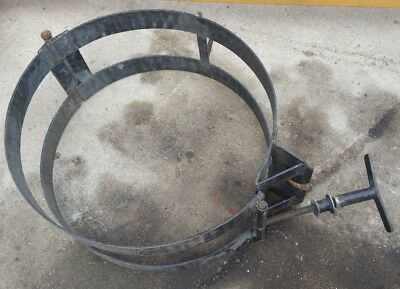 55 Gallon Drum Dolly Barrel Holder Heavy Duty Clamp Steel Frame