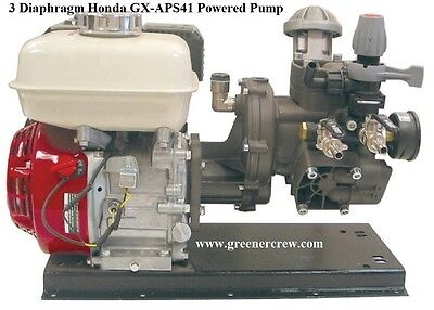 3 Diaphragm Gas Powered Pump Honda Gx 6.5 Hp Engine