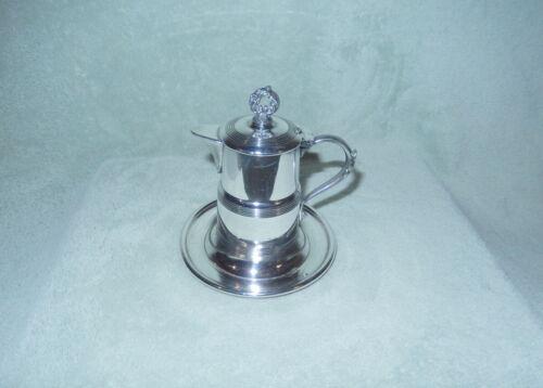 Vintage Apollo Silver Co Silverplate Creamer w/ Attached Base & Lid +Spout