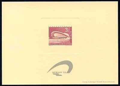 GERMANY - BERLIN 72 PHILATELIC EXHIBITION SOUVENIR CARD - 1958 3 DM STAMP