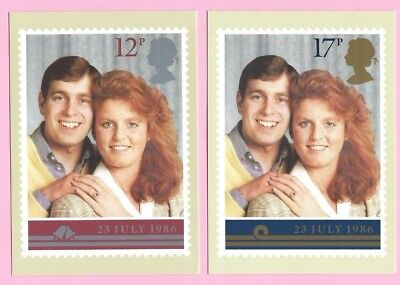GB 1986 PHQ Cards #95 Set - ROYAL WEDDING Prince Andrew and Fergie - Unused MINT