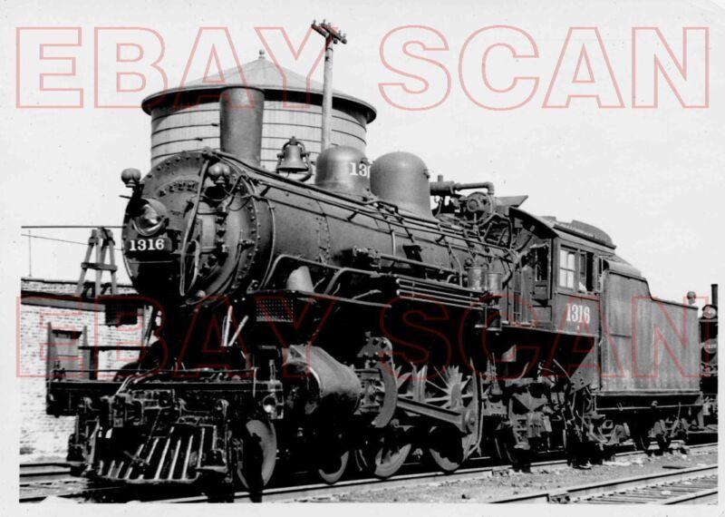 8CC338 RP 1950 CHICAGO NORTH WESTERN RAILROAD 4-4-2 LOCO #1316 CHICAGO IL