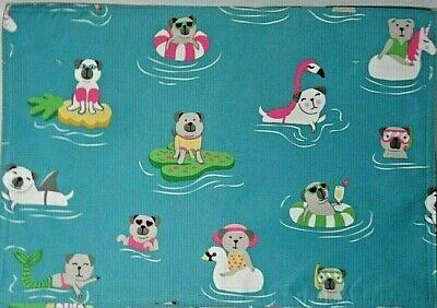 Isaac Mizrahi Dogs Swimming Placemats Summer Sunglasses Floaties Pool Set of (Sunglass Floaties)