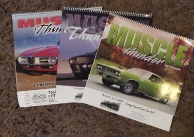 Vintage Muscle Thunder Cars Calendars 2006-2007-2011 from a Credit Union
