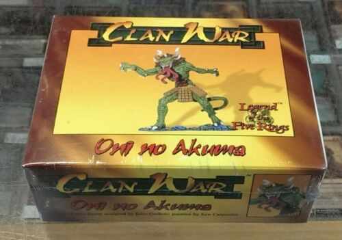 L5R Clan Wars - ONI NO AKUMA - all metal - unpainted / NEW / FACTORY SEALED !!