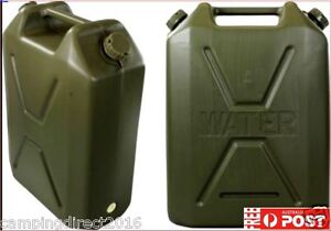 22 Lt  Army Water Jerry Can Olive Heavy Duty Plastic Camping Storage Container