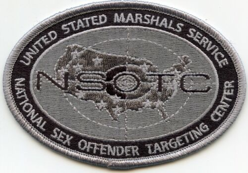 US MARSHAL NATIONAL SEX OFFENDER TARGETING gray WASHINGTON DC POLICE PATCH